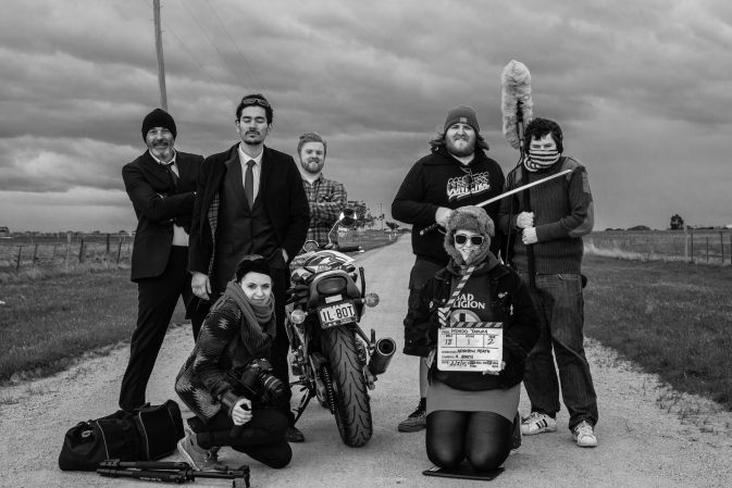 Cast and crew from the first days shoot