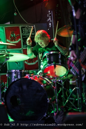 Liqour Snatch playing at the Punks 4 West Papua Show at The Brunswick Hotel, October 2015